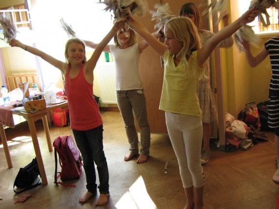 Mädchen Tanzen im Theater- und TanzCamp Wegscheide