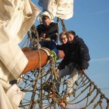 Teenies im Oskar-SprachCamp auf dem Segelschiff Pippilotta