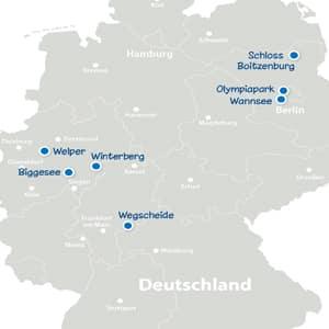 Landkarte Sportcamps 2017