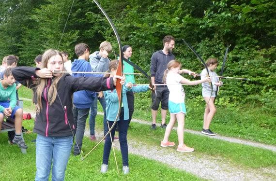 Bogenschießen im Sport- und ActionCamp Haltern