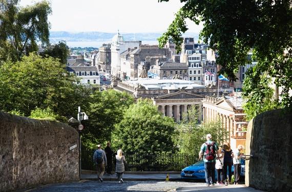 Ausblick Edinburgh City Sprachreise Edinburgh