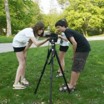 SprachCamp Kinder beim Filmen