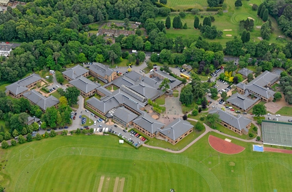 Luftbild Ascot College UK Sprachreise