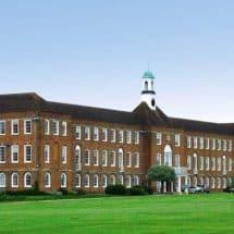 Hauptgebäudes von St. Swithun's in Winchester