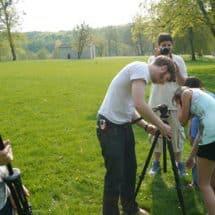Aufbau der Kamera im FilmCamp Haltern