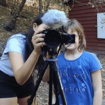 Schloss Boitzenburg FilmCamp Kinder beim Filmen