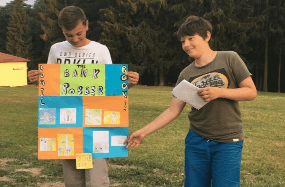 Wegscheide SprachCamp Kinder beim Englischunterricht