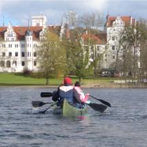 Auch im Herbst mit dem Kanu unterwegs im Oskar Sport- u. ActionCamp Schloss Boitzenburg