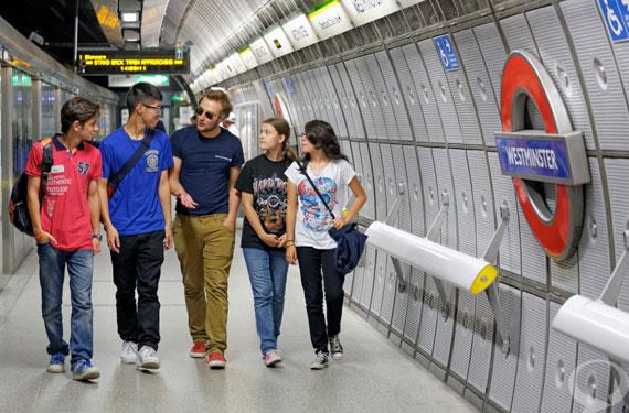 Sprachreise 'King's College'London-Tube-Westminster