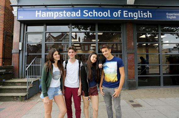 Sprachreise-Hampstead, London-vor-der-Schule