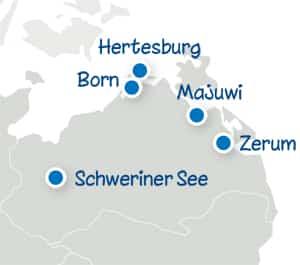 Standortkarte Ostsee Feriencamp