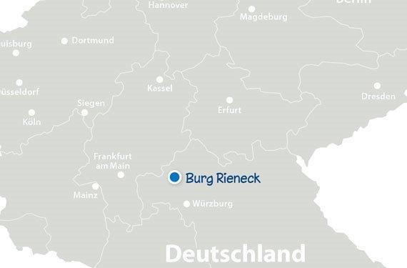 Landkarte mit SprachCamps Bayern