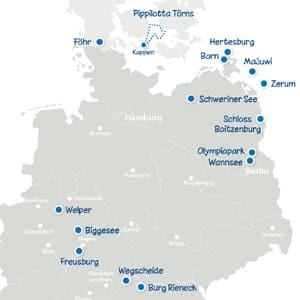 Landkarte Deuschland mit allen Camps