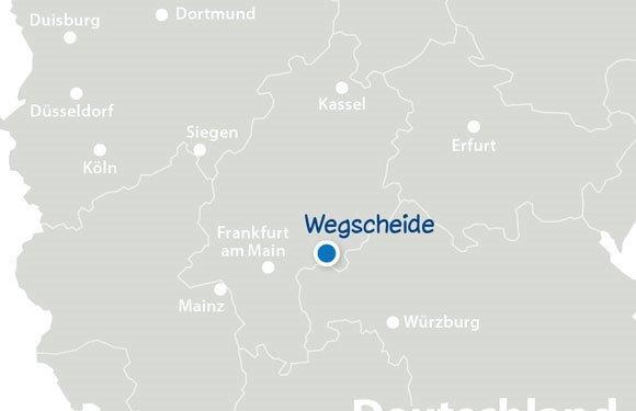 Landkarte Hessen