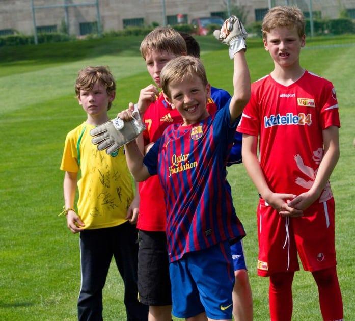 Fussballteam im Ferienlager Oskar-FussballCamp