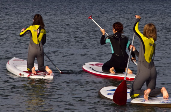 Stand-up Paddling im Wassersport- und ActionCamp Taltitz in Sachsen