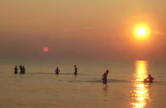 Sonnenuntergang im Beach, Sport- und KreativCamp Zerum, s
