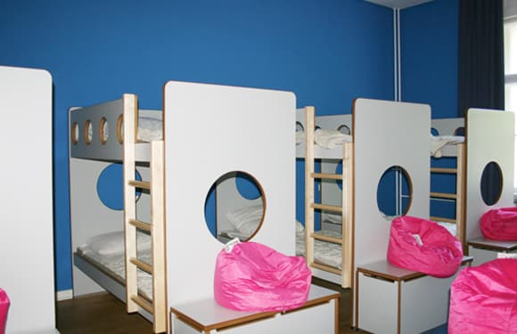 Schlafraum in der Villa Blumenfisch im Sport- und KreativCamp Wannsee